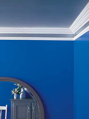 living room border mirrored furniture four pretty ceiling projects metallic and blue wall