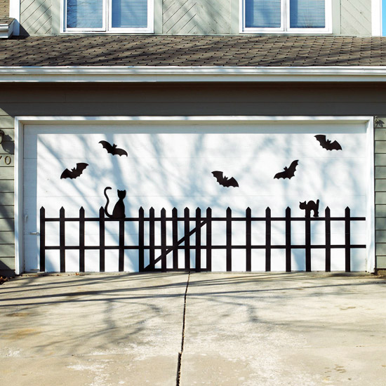 Bat and Cat Garage Door Design