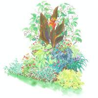 Tropical-Look Garden Plan