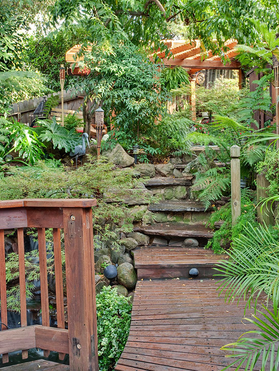 create tropical retreat