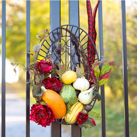 Fall Pumpkin Basket Wreath