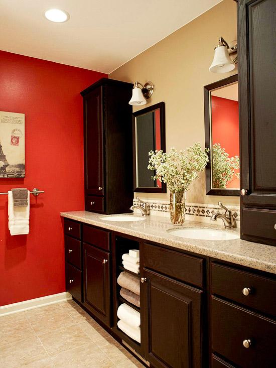 Red Bathroom Design Ideas