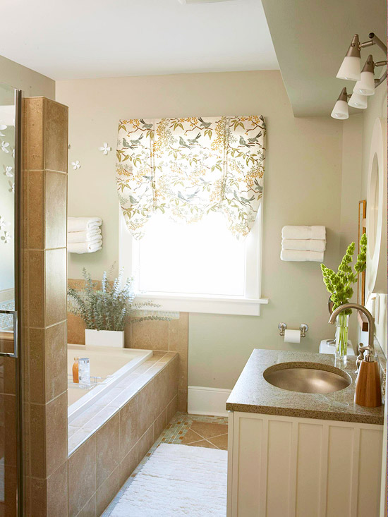 Natural Retreat A Soothing Makeover for a Small Bathroom