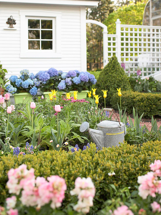 flower garden ideas landscape