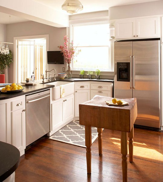 small kitchen with island design ideas Small-Space Kitchen Island Ideas - Bhg.com