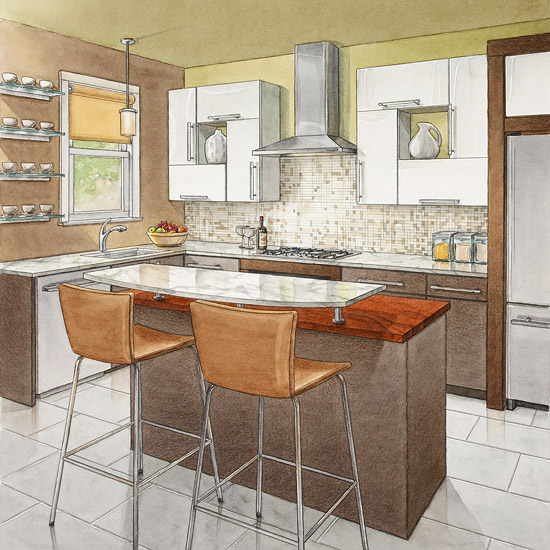 Secrets of Successful Kitchen Layouts  Better Homes and