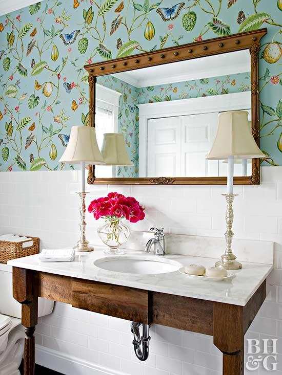Powder Room Ideas  Better Homes And Gardens  Bhgcom