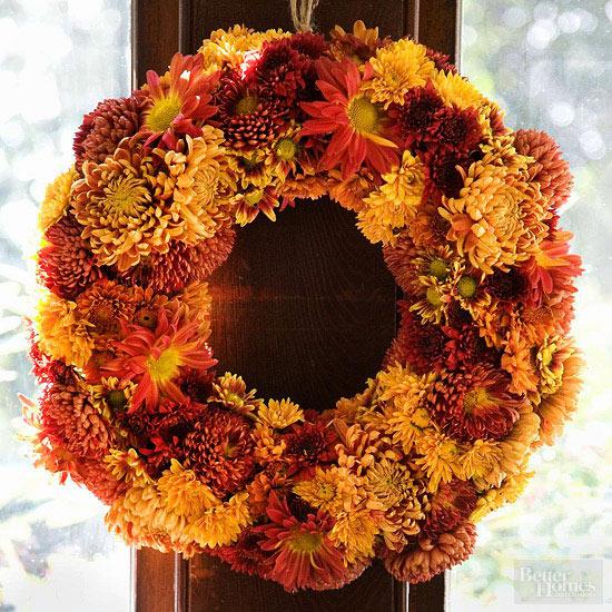 Chrysanthemum Floral Wreath
