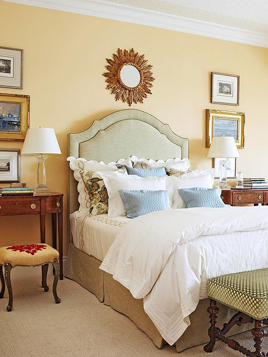 bedroom color ideas: yellow