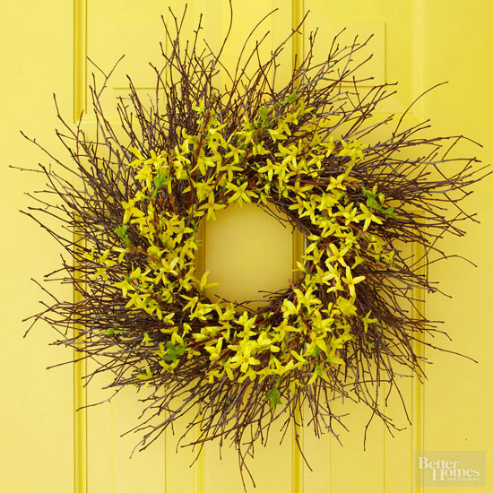 Twig-and-Flowers Fall Wreath