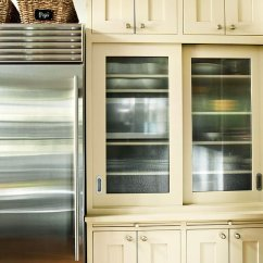 Kitchen Cabinet Inserts Ideas Flooring For Glass-front Cabinetry