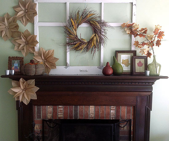 Fall Mantel Decorating Ideas From Better Homes And Gardens