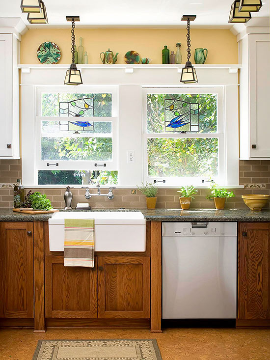 oak cabinets kitchen glass countertops decorating with
