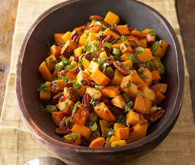 Roasted Sweet Potato And Butternut Squash Salad