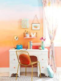 How to Paint a Sunset-Inspired Wall Treatment