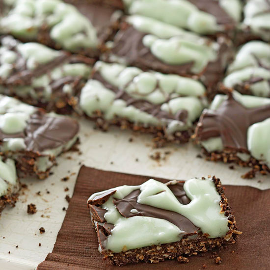 Dark Chocolate-Mint Bites