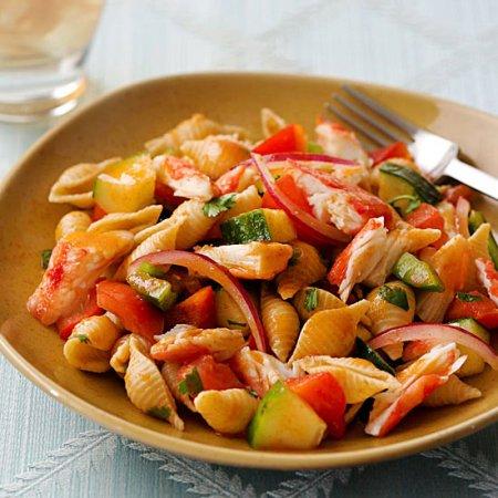 Gazpacho Crab and Pasta Salad