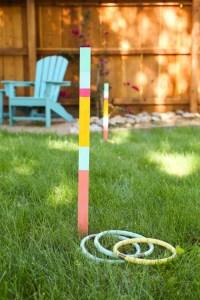 DIY Ring Toss Yard Game