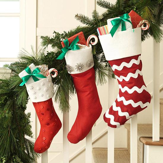 Sensational NO SEW Christmas Stockings   BHG