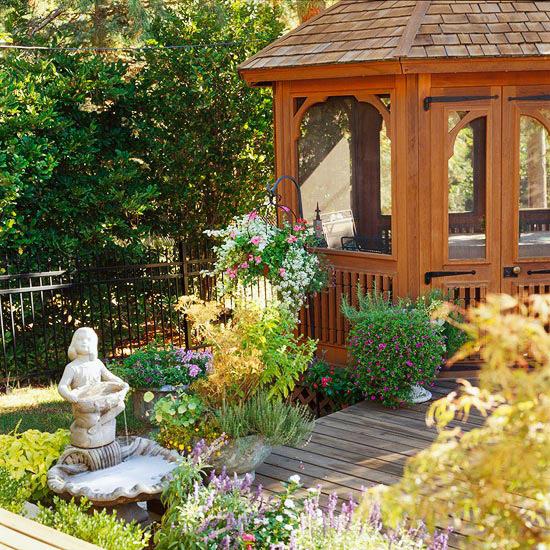 15 idee per il gazebo da giardino /2   guida giardino - Classico In Legno Da Giardino Gazebo