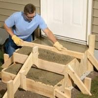 Poured Concrete Steps - Sand-Set & Mortared Patios ...