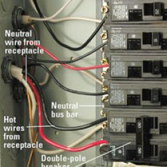 220 Volt Wiring Diagram Air Conditioner Chevrolet Diagrams Installing A 240-volt Receptacle - How To Install New Electrical Fixture Home & Residential ...