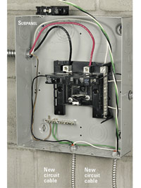 square d circuit breaker panel wiring diagram pto switch for toro zero turn installing an electrical subpanel - how to install appliances & new circuits home ...