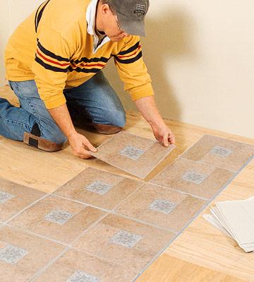 Installing Self-stick Vinyl Tile - How to Install Resilient Floors - Flooring Installation. DIY Advice