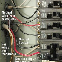 220 Volt Wiring Diagram Air Conditioner 2002 Gmc Radio Installing A 240-volt Receptacle - How To Install New Electrical Fixture Home & Residential ...