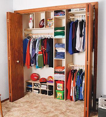 plans for closet organizer