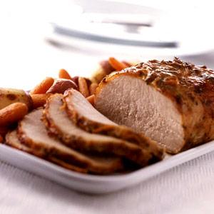Mustard-Maple Pork Roast
