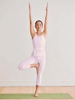 tree balancing yoga pose, yoga