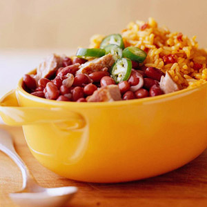 Red Beans over Spanish Rice