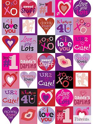 Valentine Stickers pdf image