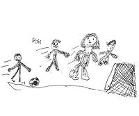 family soccer match