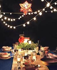Nighttime Fourth of July Backyard Party - Holiday Party ...