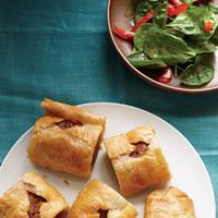 Sausage Rolls with Spinach Salad
