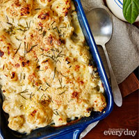 Cauliflower with Rosemary au Gratin