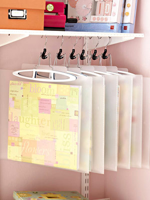 HANG PATTERNED PAPER FOR EASY STORAGE