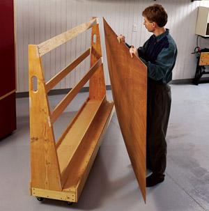 Roll-around plywood cart 1