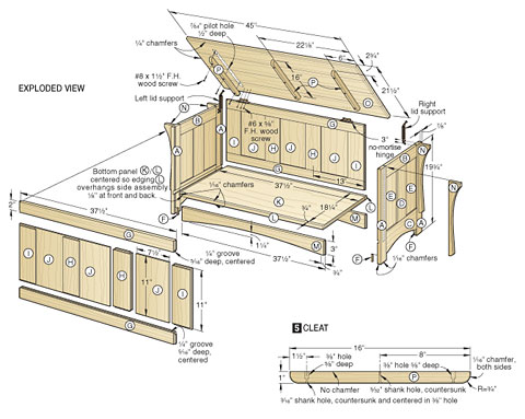 wooden box plans free