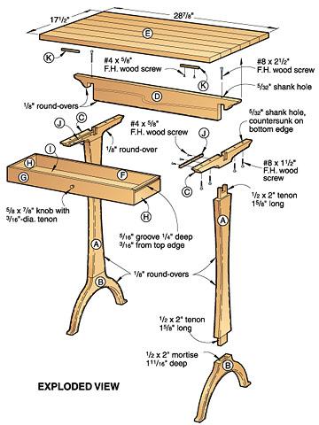 shaker side table plans