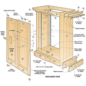 woodworking plans free cabinet