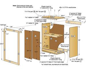 woodworking storage cabinet plans