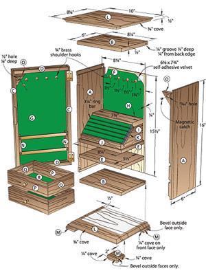 jewellery cabinet plans