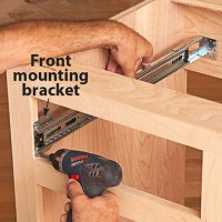 How to install ball-bearing drawer slides: Now for the cabinet