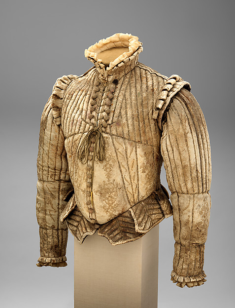 Fencing Doublet, Leather, silk, linen, cotton, Western European