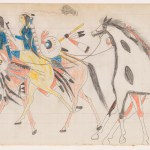 Frank Henderson Two Riders Leading Horses Henderson Ledger Artist B Arapaho The Metropolitan Museum Of Art