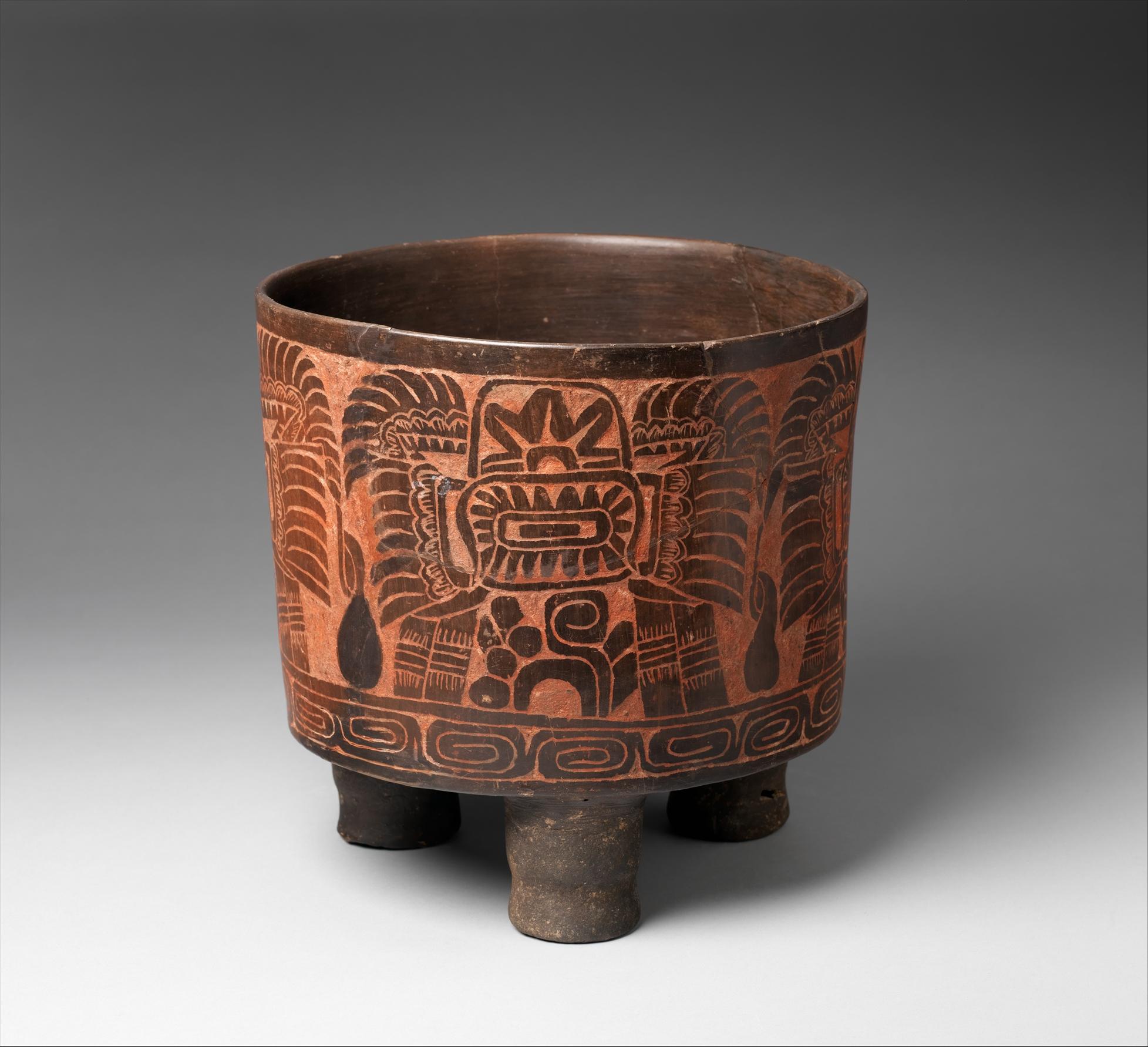 Tripod Vessel Teotihuacan The Met
