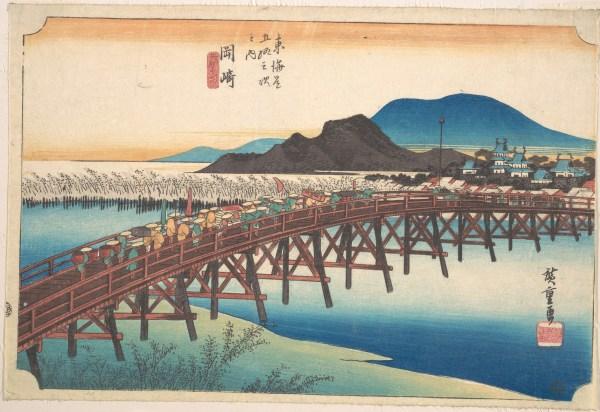 Utagawa Hiroshige Okazaki Tenshin Hashi Japan